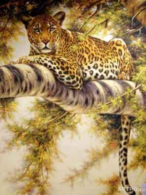 s02le-003 Леопард на дереве