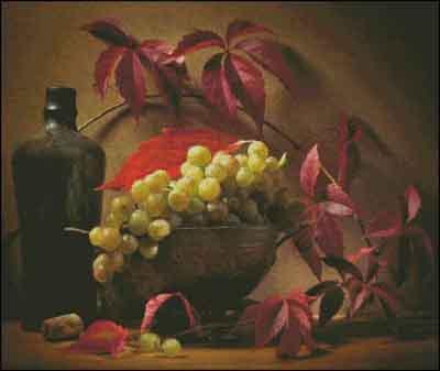 s05-207 Натюрморт с виноградом