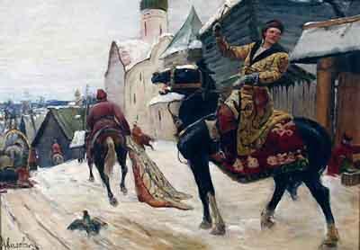 s13-003 Опричники в Новгороде