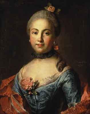 s17-001 Портрет неизвестной в голубом платье