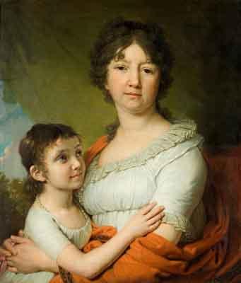 s24-001 Портрет Лабзиной и ее воспитанницы