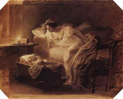 s25-047 Мать, просыпающаяся от плача ребенка