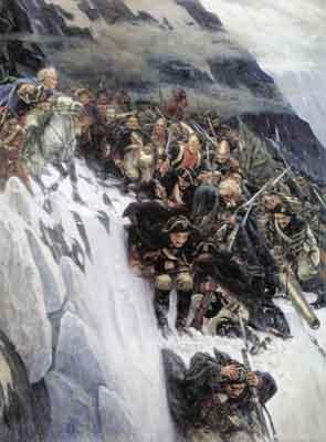 s34-005 Переход Суворова через Альпы