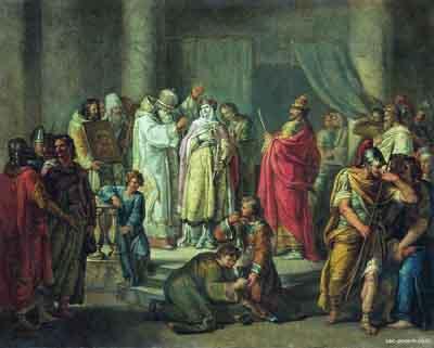 s36-004 Крещение княгини Ольги