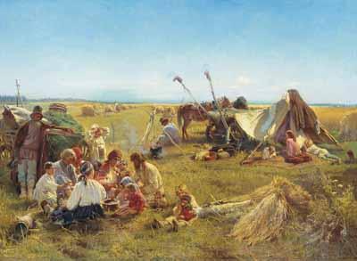 s37-026 Обед в поле