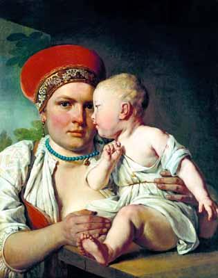 s41-006 Кормилица с ребенком