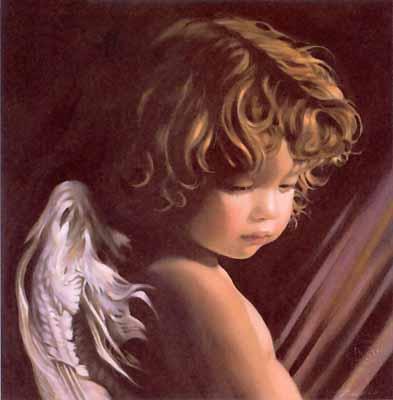 s88-007 Ангел, смотрящий вниз