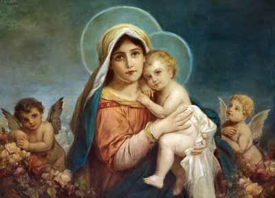 s90-021 Мадонна с младенцем