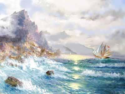 s92-013 Морской пейзаж