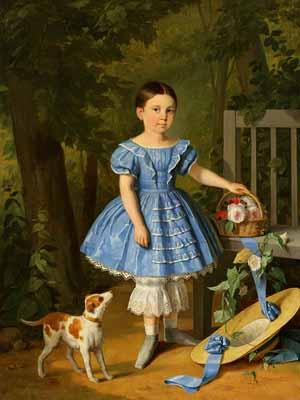 s98-004 Девочка в голубом платье